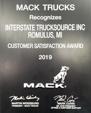 Interstate Trucksource proud to win 2019 Mac trucks Top Customer Satisfaction Award