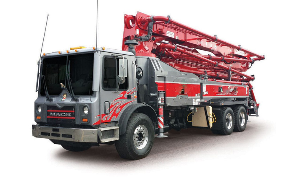 Mack Truck with Concord Concrete Pumper at Interstate Trucksource