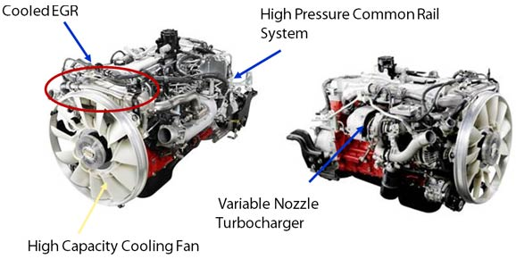 hino engine cooled EGR, High pressure common rail system