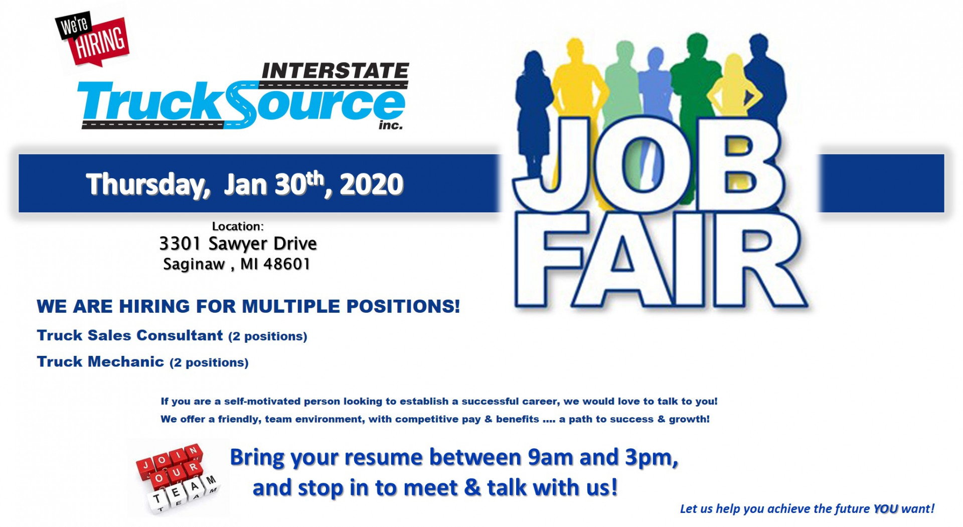 Job Fair - January 30th, 2020!
